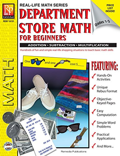 Purchase low price Department Store Math For Beginners: Addition / Subtraction Multiplication, Grades - (Real Life