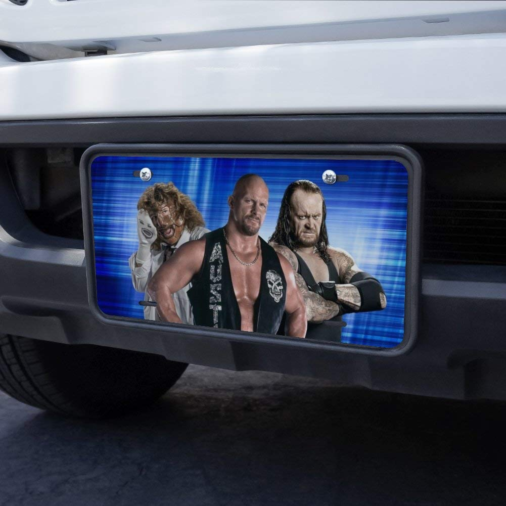 Graphics and More WWE Trio Novelty Metal Vanity Tag License Plate
