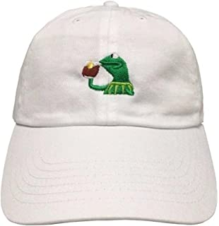 Amazon.com  Dad Hat Cap - Rose Flower Emoji Embroidered Adjustable ... 9abd327a3998