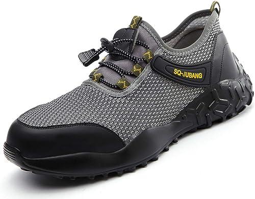 Scarpe Antinfortunistiche Uomo Donna Scarpe da Lavoro con Punta in Acciaio Leggere Traspiranti Sneaker da Lavoro Leggere ed Eleganti Scarpe Sportive