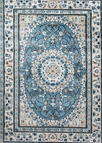 05840 Oriental Blue 8×10 Area Rug Carpet Large New