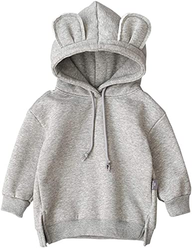 Ding-dong Baby Toddler Kid Boy Girl Solid Casual Crewneck Sweatershirt Pullover