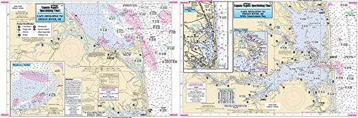 Amazon Com Captain Segull Inshore Rehoboth Bay Indian River De Fishing Nautical Chart Rb304 Sports Outdoors