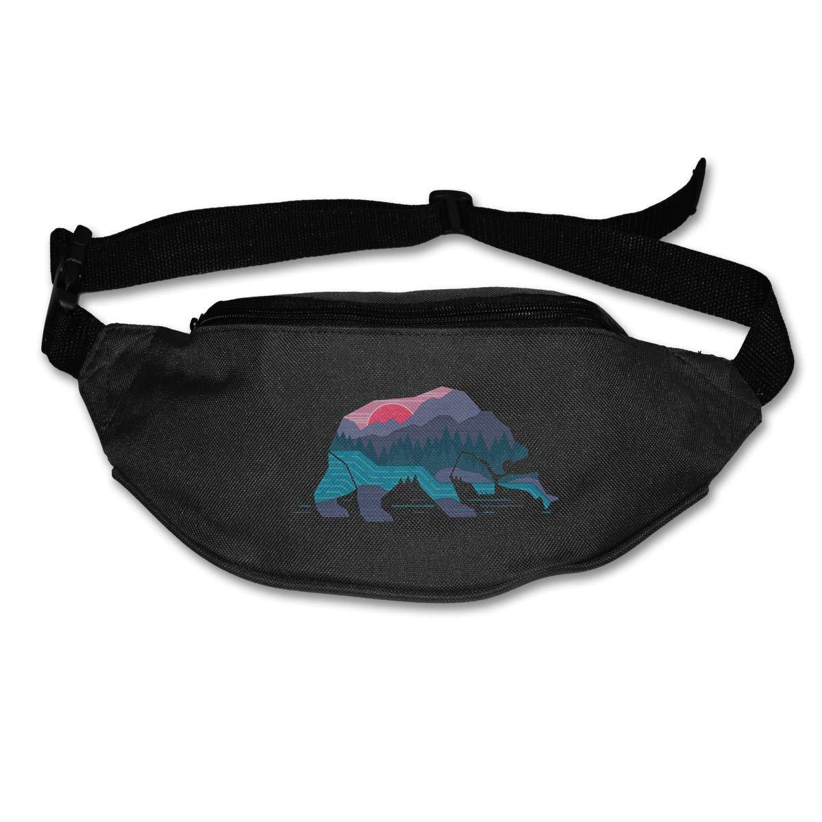 Nature Bear Sport Waist Bag Fanny Pack Adjustable For Hike