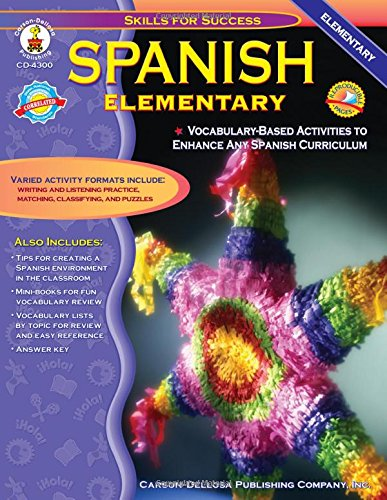 Spanish, Grades K - 5: Elementary (Skills for Success): Cynthia ...