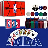 NBA 200 Chip Poker Set with Collector's Tin with Cards, Felt
