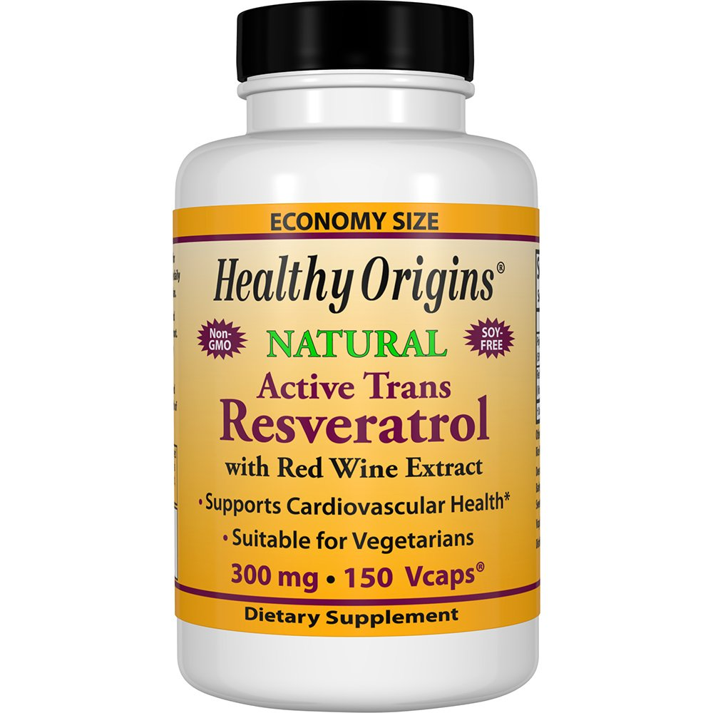 Healthy Origins Trans-Resveratrol Multivitamins, 300 Mg, 150 Count
