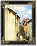 Camprodon Spain By John Singer Sargent Oil Painting Reproduction with Antique Frame - 22'' x 30''