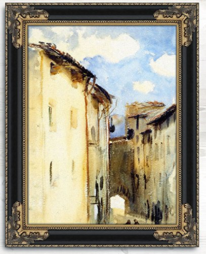 Camprodon Spain By John Singer Sargent Oil Painting Reproduction with Antique Frame - 22'' x 30'' by Cutler Miles