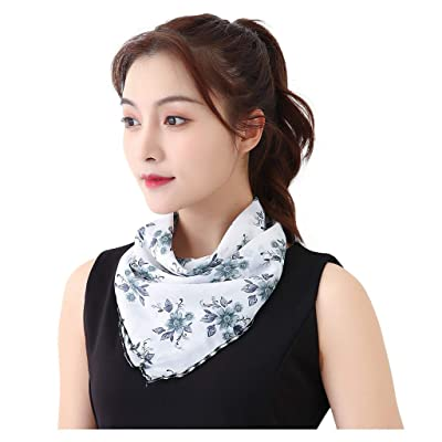 Renzhe Women's Sun Protection Silk Neck Scarf Seamless Face Scarf Bandanas for Dust: Toys & Games