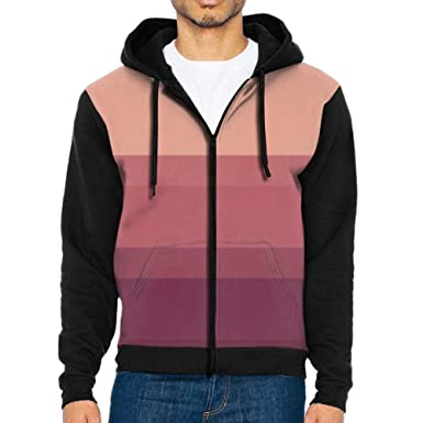 Anutknow warm tones subtle and chic striped mens fashion zipper and hit color hoodies
