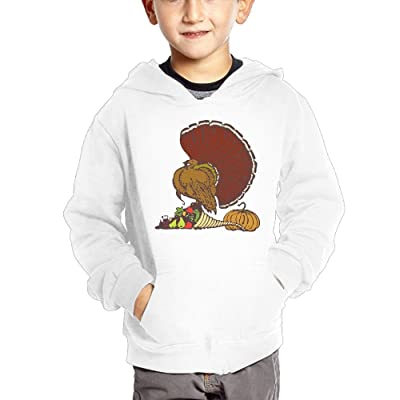 GLSEY Turkey Stands On The Snail Children's Casual Hooded Pocket Hoodie
