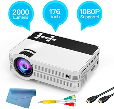 Amazon.com: Bewinner Portable Mini Projector 4500 Lumens ...