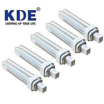Pack 5 Bombillas LED - KDE LED 911367 Bombilla LED 2U G24D-3 14W=