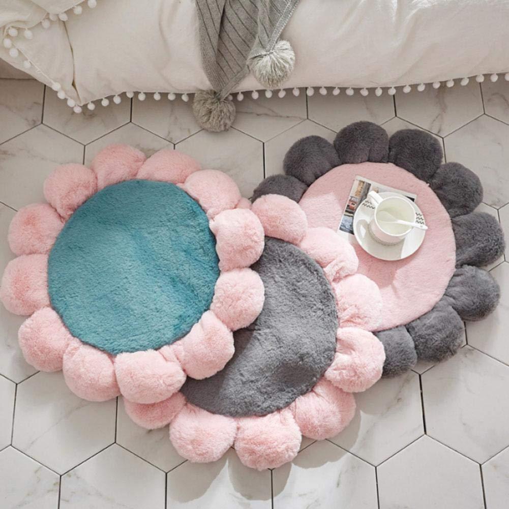 sof/à Stanza di Dinning Camera da Letto Stuoie Decorative della Peluche dei tappeti Rotondi antiscorrimento Adatti a Salotto