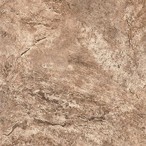 Fawn Flooring - ARMSTRONG PEEL N' STICK TILE 12 IN. X 12 IN. FAWN TRAVERTINE SILVER 1.14MM (0.045 IN.) / 45 SQ. FT. PER CASE