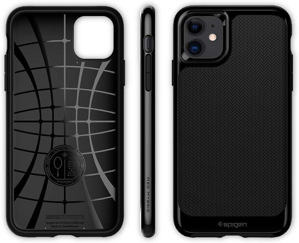 6.1 Spigen Neo Hybrid Funda iPhone 11 2019 Compatible con Apple iPhone 11 Negro Azabache