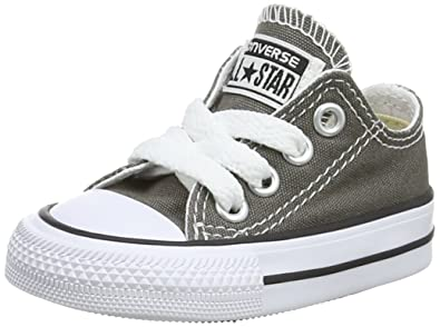 Converse Unisex-Kinder CTAS-ox-Charcoal-Infant Fitnessschuhe
