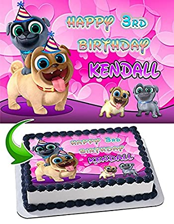 Puppy Dog Pals For Girls Edible Cake Topper Personalized Birthday 1