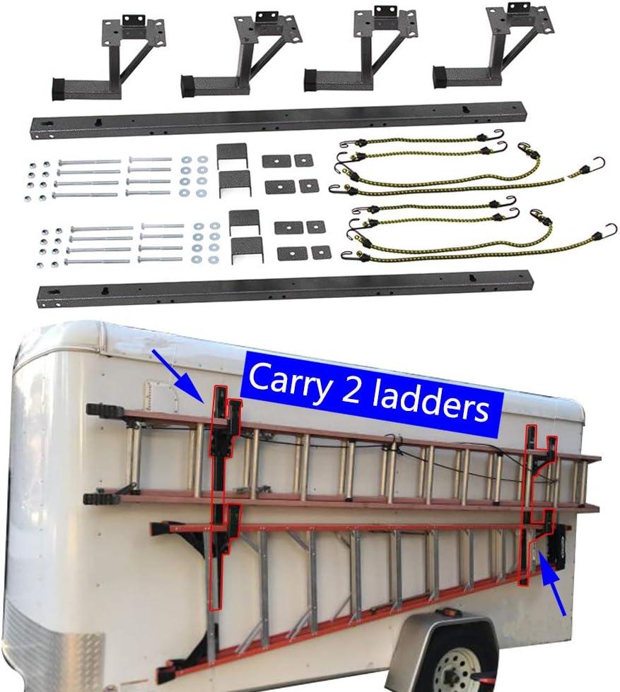 Hildirix Hook Assembly Kit Fit for Enclosed Trailer Exterior Side Wall Ladder Rack