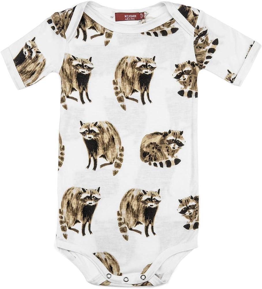 Raccoon MilkBarn Bamboo Baby Short Sleeve One Piece
