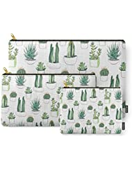 Society6 Watercolour Cacti And Succulent Carry-All Pouch