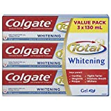 Colgate Total Toothpaste, Plus Whitening, 3 X 130 mL