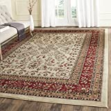 Safavieh Lyndhurst Collection LNH331A Traditional Oriental Ivory and Red Rectangle Area Rug (8'11'' x 12')