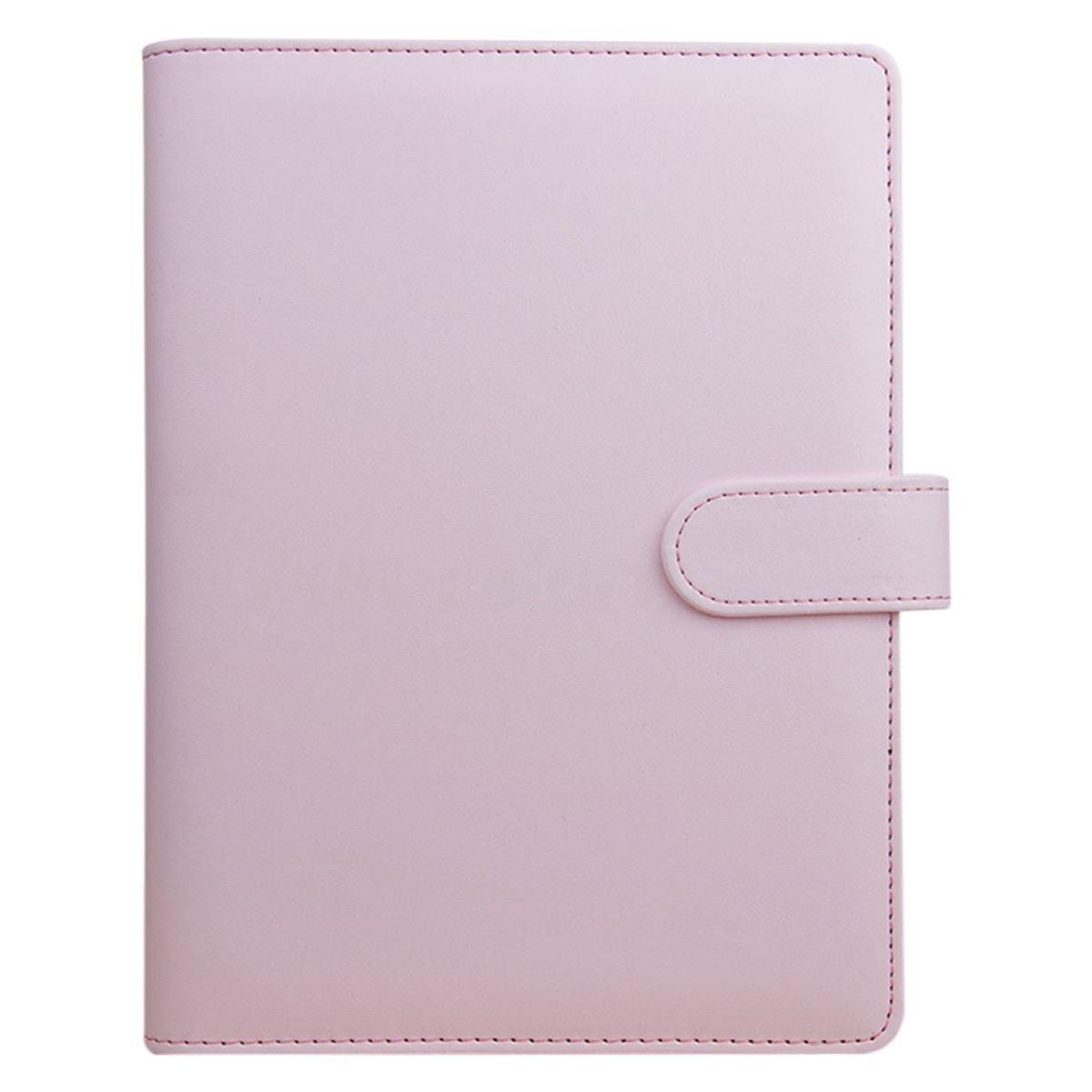 TOOGOO A5 Agenda mensile mensile per pianificatore Portafoglio classico per quaderno a fogli mobili, rosa
