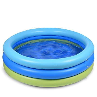 Joyjoz Swimming Pool for Kids, Inflatable Kiddie Pool, Blow UP Swimming Pool for Outdoor, Backyard, Above Ground, Garden, Adults, Famlily, Babies Toddlers: Toys & Games