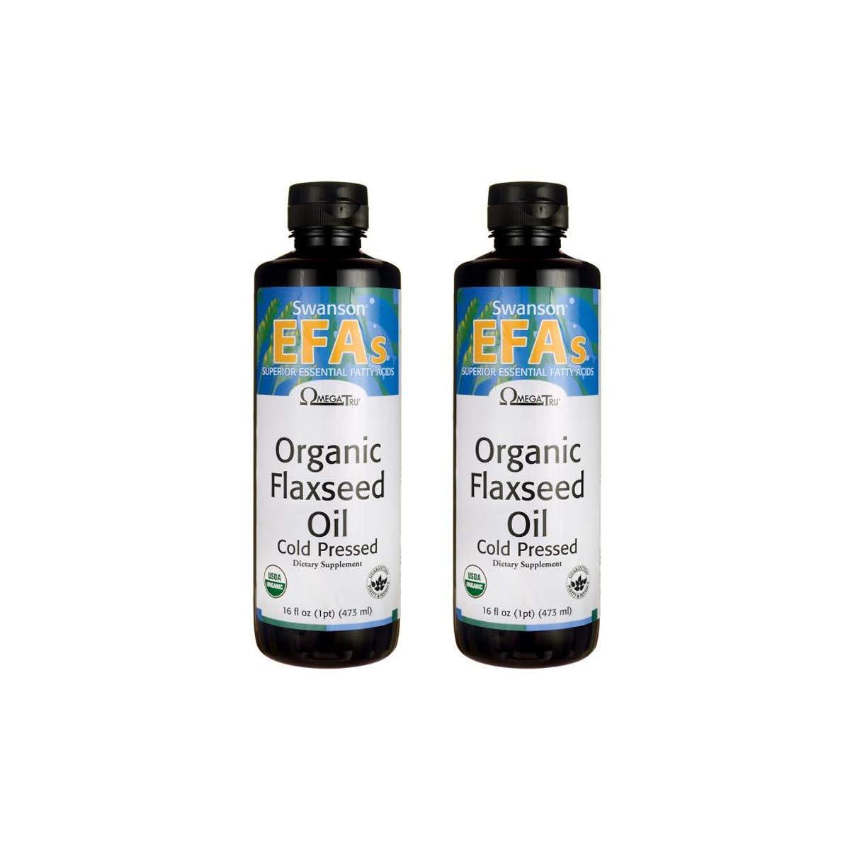 Swanson Flaxseed Oil (Omegatru) 14 g 16 fl oz Liquid 2 Pack by Swanson