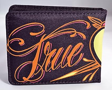 Cartera hombre Xtreme free style de lona serigrafiada True Love varios colores (11x9) (Morado)