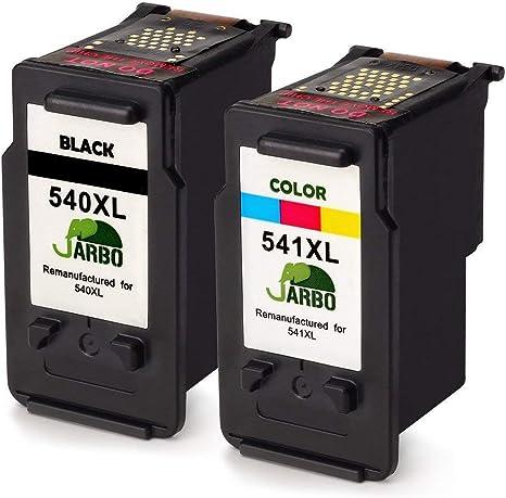 JARBO Remanufacturados Canon PG-540 CL-541 Cartuchos de tinta (1 ...
