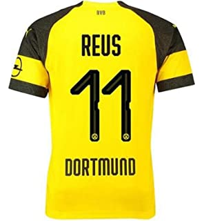 8062713a1b9 Lujfhd Mens Dortmund Reus Home Soccer Jersey 18-19 11 Football Jersey Yellow (
