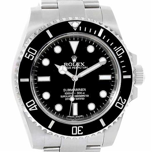 Rolex Submariner automatic-self-wind Mens Reloj 114060 (Certificado) de segunda mano: Rolex: Amazon.es: Relojes