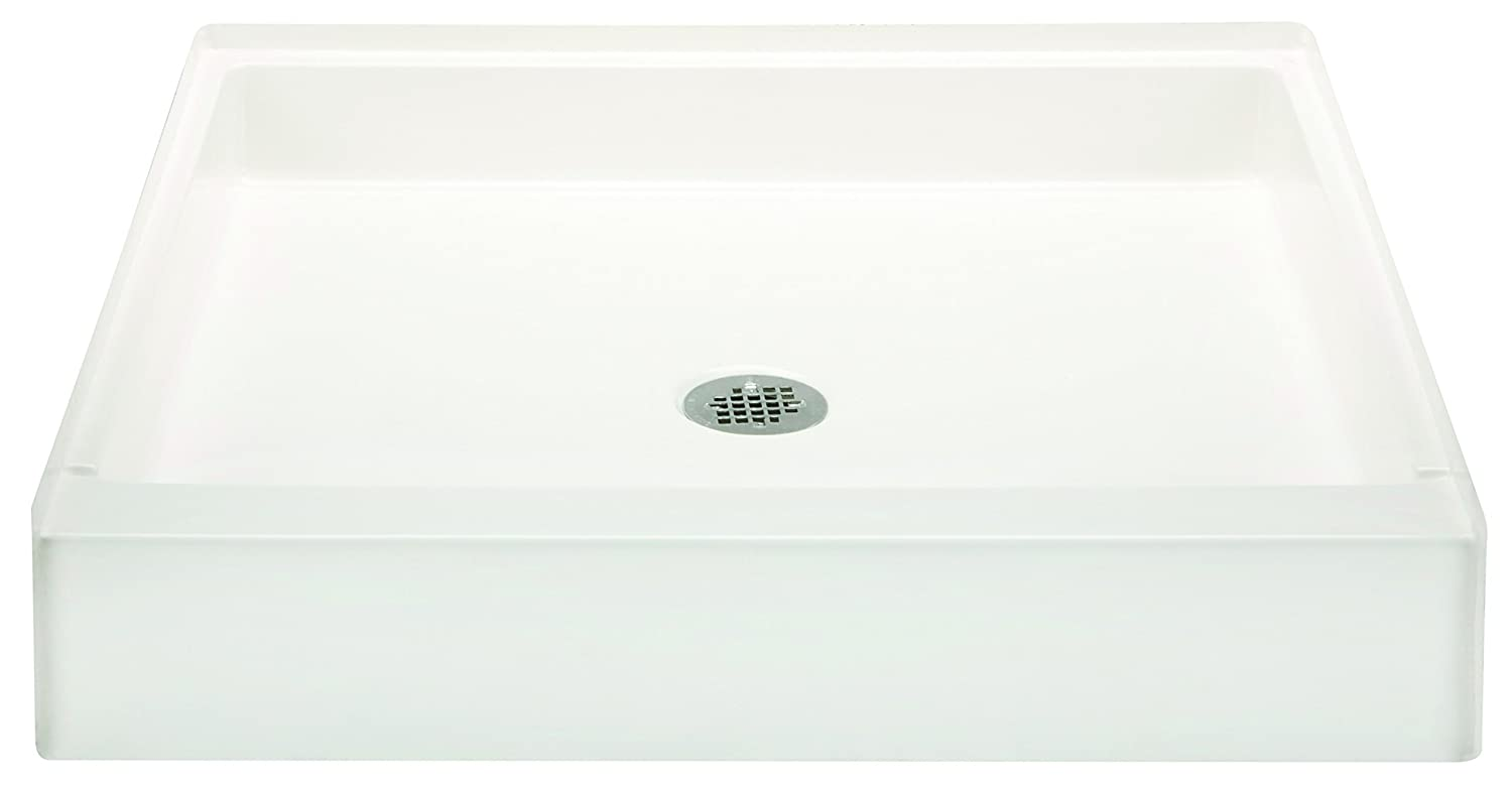Bestbath 30″ x 30″ Step-in Shower Base/Pan - 6″ Curb Height - Center ...