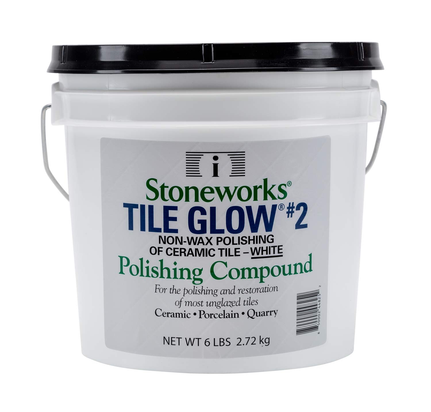 Tile Glow #2 White (6 Lb) Natural, Non-Wax Compound for The Polishing of Most Unglazed Ceramic, Porcelain and Quarry Tiles, which Gives a Long Lasting Finish and Natural Shine to Tiles
