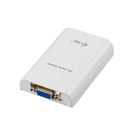 I-Tec USB 2.0 Display Adaptador vídeo (VGA, Full HD+ 1920x1080, Tarjeta gráfica Externa), Color Blanco