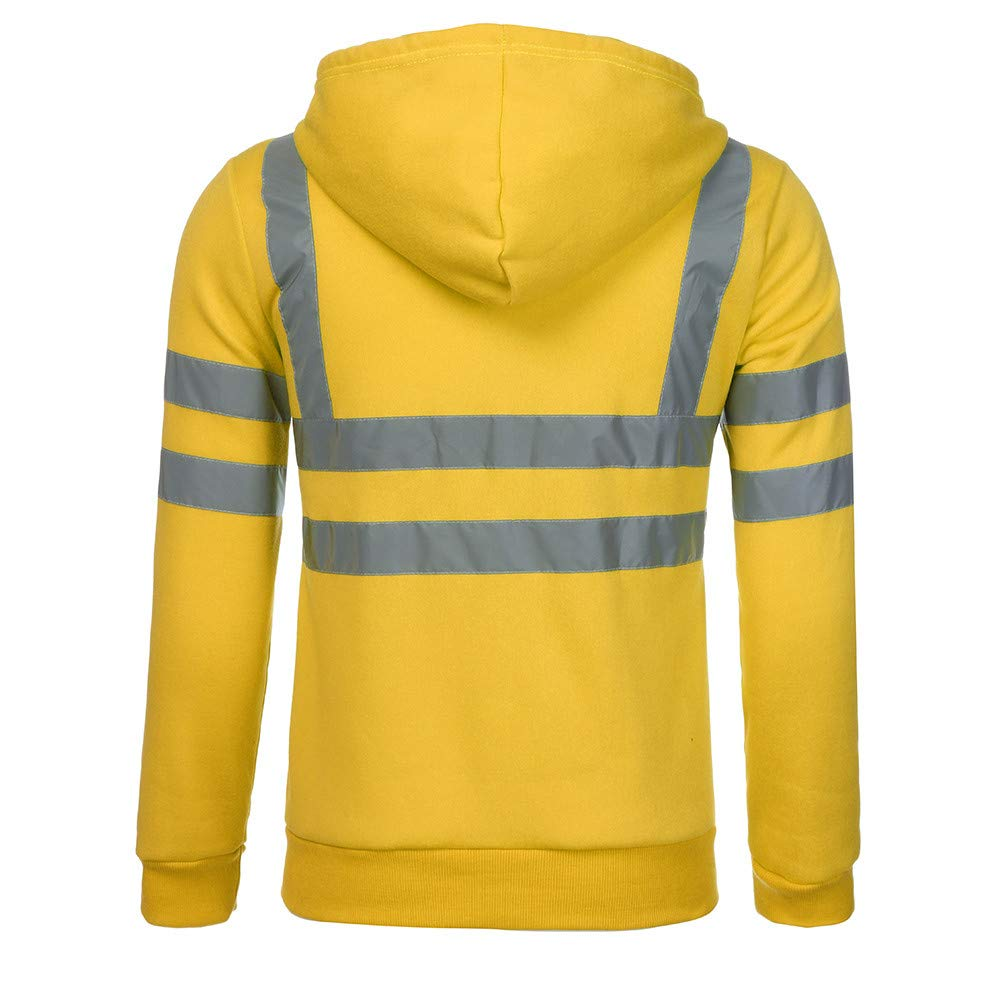 Logobeing Chaqueta Hombre Sudaderas Trabajo Casual Camisas Hombre Manga Larga Jersey de Alta Visibilidad Chaquetas Cardigan con Capucha Tops: Amazon.es: ...