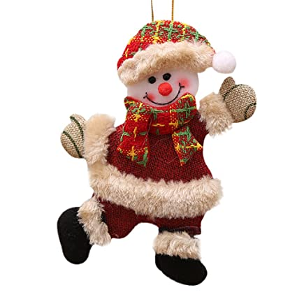ZYEE Clearance Sale! Christmas Ornaments Gift Santa Claus Snowman Reindeer Toy Doll Hang Decorations (