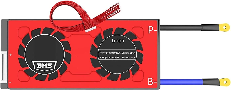 BMS 13S 48V 100A 150A Batería De Iones De Litio PCB 18650 3,7 V Placa De Protección De Batería De Litio Módulo Equilibrado Con Bluetooth / RS485 / CAN (Color : 80A)
