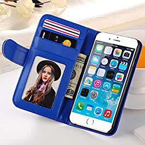 "Wallet Style PU Leather Case For IPhone 6 Plus 5.5"" Inch Flip Mobile Phone Bag With Stand + 2 Card Holder In Stock --- Color:black"