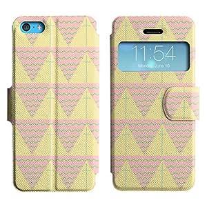 LEOCASE patrón de triángulo Funda Carcasa Cuero Tapa Case Para Apple iPhone 5C No.1007446