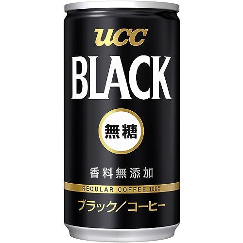 UCC ブラック無糖 コーヒー 缶コーヒー185ml×30本