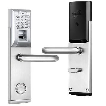 Sharplace Electrónica Cerradura de Bloqueo de Puerta de Contraseña Táctil Biométrica - # 1 Empujar a la derecha Abrir: Amazon.es: Bricolaje y herramientas