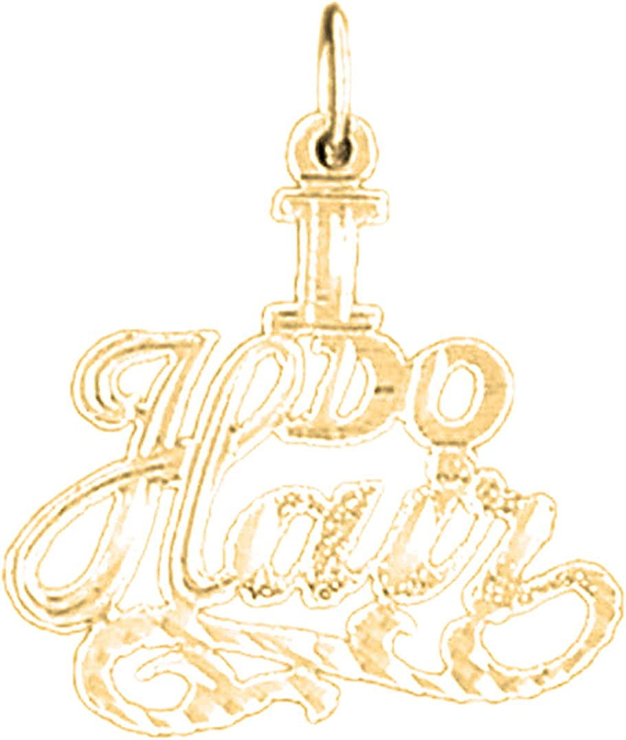 14K Yellow Gold-plated 925 SilverI Do Hair Pendant Jewels Obsession SilverI Do Hair Pendant
