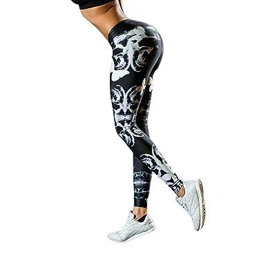Soholulu Breathable Women Printed Flower Leggins Yoga Sports ...