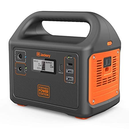 Jackery Portable Power Station Explorer 160, 167Wh Lithium Battery Solar Generator Backup Power Supply with 110V 100W Peak 150W AC Outlet for Outdoors Camping Fishing Emergency