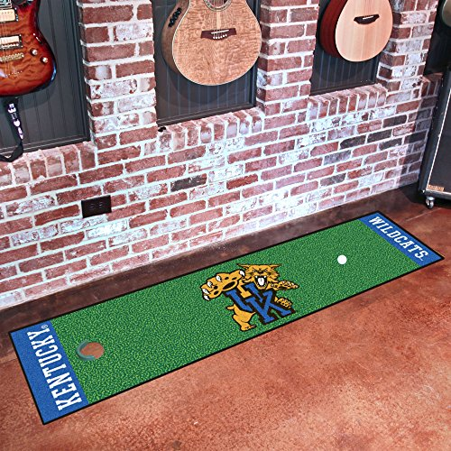 FANMATS NCAA University of Kentucky Wildcats Nylon Face Putting Green Mat ()