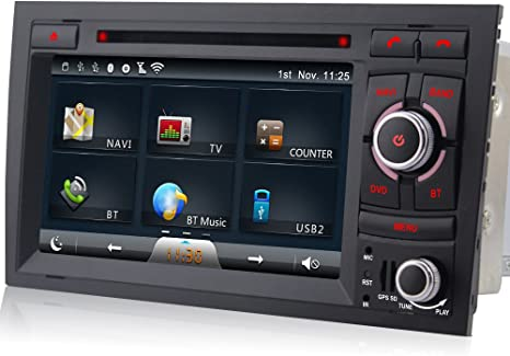A Sure Dvd Gps Sat Nav Autoradio Fur Audi A4 S4 Rs4 8f B9 B7 Seat Exeo Sd Usb Bluetooth Amazon De Navigation